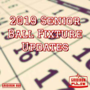 2019 Fixtures Update