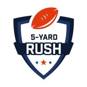 5 Yard Rush Logo