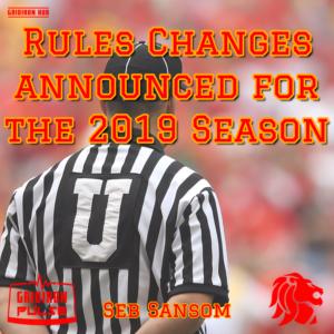 BAFA 2019 Rule Changes