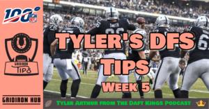 TA DFS Tips 2019 Wk 5