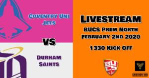 CovUni Jets V Saints Stream 19-20