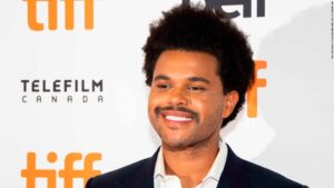 """The Weeknd attends a premiere for """"Uncut Gems"""" on day five of the Toronto International Film Festival at the Princess of Wales Theatre on Monday, Sept. 9, 2019, in Toronto. (Photo by Arthur Mola/Invision/AP)"""