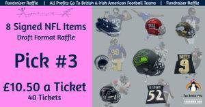 8 NFL Item Draft Raffle - Pick 3