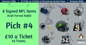 8 NFL Item Draft Raffle - Pick 4